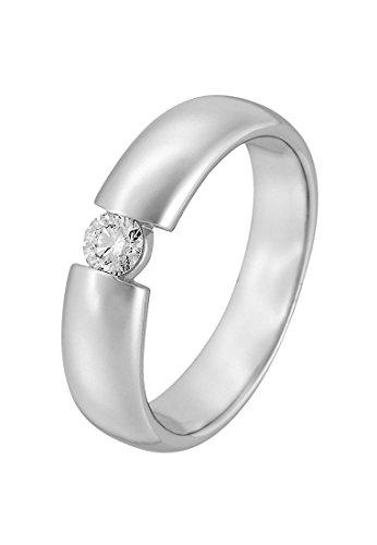 CHRIST Diamonds Damen-Ring 585er Weißgold 1 Diamant ca. 0,20 Karat (silber)