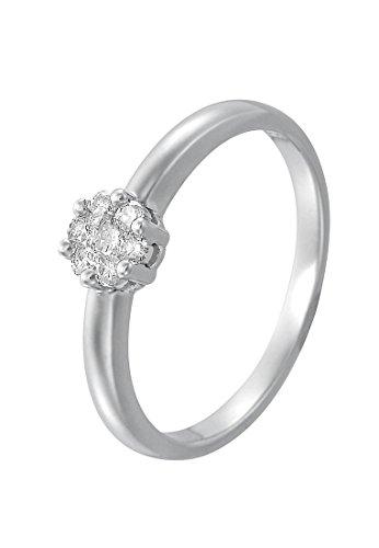 CHRIST Diamonds Damen-Ring 585er Weißgold 7 Diamant ca. 0,20 Karat (weißgold)