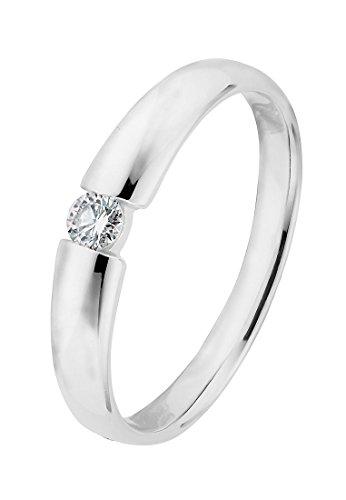 CHRIST Diamonds Damen-Ring #NV 375er Weißgold 1 Diamant ca. 0,08 Karat (weißgold)