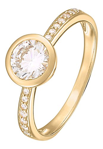 CHRIST Gold by CHRIST Damen-Ring 333er Gelbgold 15 Zirkonia 54, gold