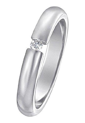 CHRIST Silver Diamonds Damen-Ring 925er Silber ca. 0,05 ct. (silber)