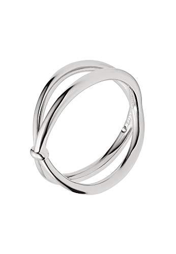 Fossil Damen-Ring Edelstahl 1 Glasstein (silber)