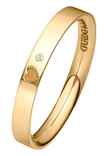 Guido Maria Kretschmer by CHRIST Damen-Ring 375er Gelbgold 1 Diamant ca. 0,01 Karat (gold)