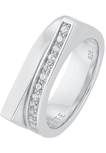 JETTE Silver Damen-Ring 925er Silber 13 Zirkonia (silber)