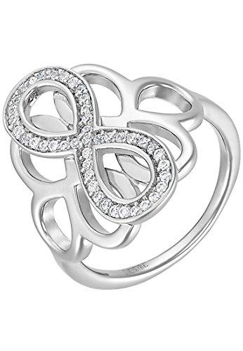 JETTE Silver Damen-Ring SGA PEPPER 925er Silber 43 Zirkonia (silber)
