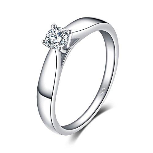 Jewelrypalace Einfach Für Mädchen Girls Schönheit Bandring Solitärring Silberring Geschenk Ring 925 Sterling Silber Damen
