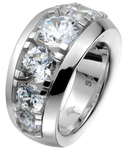 Joop! Damen-Ring 925 Sterling Silber rhodiniert Kristall Zirkonia Angelina weiß
