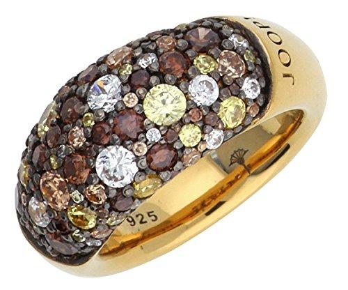 Joop! Damen-Ring 925 Sterling Silber rhodiniert Kristall Zirkonia Extreme Pavée mehrfarbig