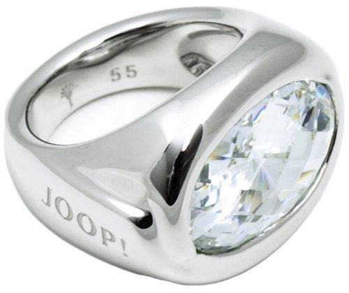 Joop! Damen-Ring 925 Sterling Silber rhodiniert Kristall Zirkonia blau