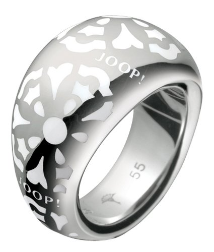 Joop! Damen-Ring 925 Sterling Silber rhodiniert blau