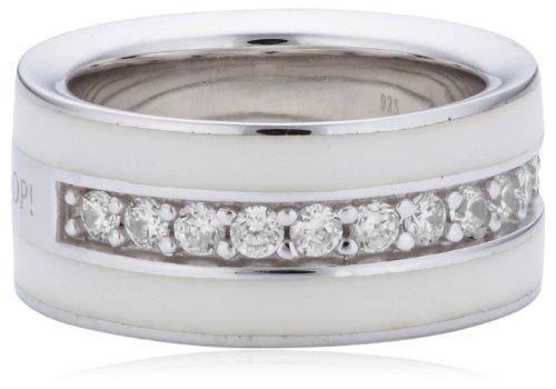 Joop Damen-Ring Epoxy Zirkonia weiss 925 Sterling Silber JPRG90652B530