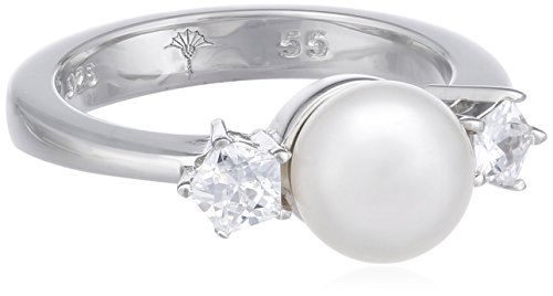 Joop! Damen-Ring Gwyneth synth. Perle weiß Zirkonia 925 Sterling Silber JPRG90593A5