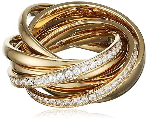 Joop! Damen-Ring Vergoldet Glas weiß - JPRG10631C1