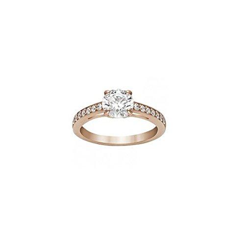 Swarovski Damen-Ring Glas transparent - 51_Bandring