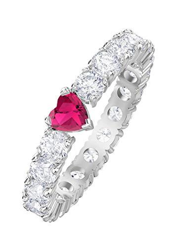 Swarovski Damen-Ring LOVE Metall Swarovski Kristalle (silber)