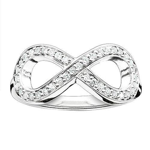 THOMAS SABO Damen-Ring 925er Silber Zirkonia TR2014-051-14-52