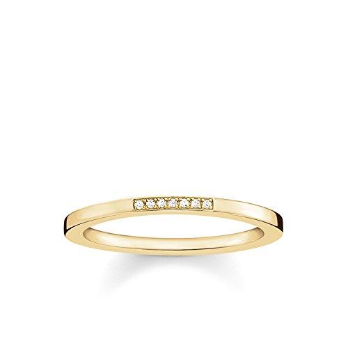 THOMAS SABO Damen Ring 925er Sterlingsilber; 750er Gelbgold Vergoldung D_TR0005-924-14