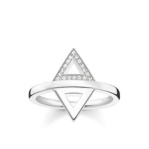 THOMAS SABO Damen Ring Dreieck 925er Sterlingsilber D_TR0019-725-14