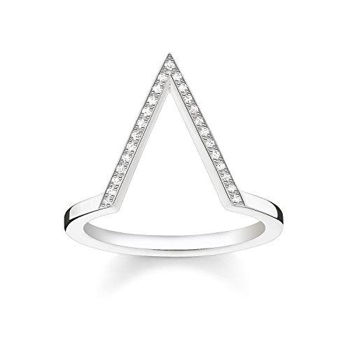 THOMAS SABO Damen Ring Dreieck 925er Sterlingsilber D_TR0020-725-14