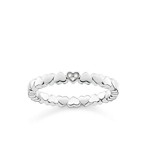 THOMAS SABO Damen Ring Herzen 925er Sterlingsilber D_TR0013-725-14