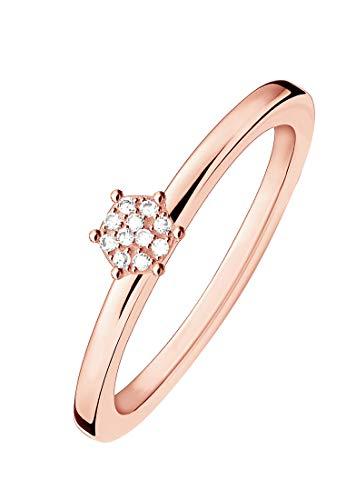 Thomas Sabo Damen-Ring 925er Silber Diamant (rosé)