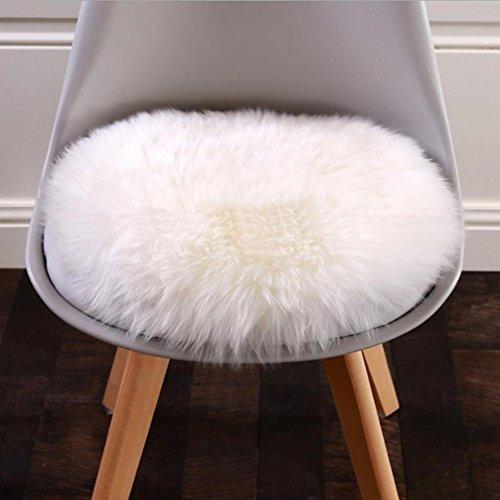 30 x 30cm Teppiche Fußmatten Schlafzimmer Teppich Tür Haushalt Boden Badezimmer Haushalt Teppich Weiche künstliche Schaffell-Wolldecke-Stuhl-Abdeckungs-künstliche Wollwarme haarige Teppich-Sitzauflage (Weiß)