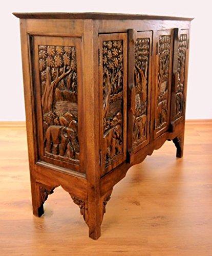 Asia Wohnstudio Asiatisches Sideboard aus Massivholz, Anrichte, Handarbeit, Möbel, Thailändische Kommode der Marke, (Nr.12)