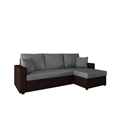Ecksofa mit Schlaffunktion und Bettkasten Picanto! Maße: 224x144 cm, Schlaffläche: 200x130 cm, Eckcouch Couchgarnitur Wohnlandschaft Sofa Couch (Alova 68 + Alova 36)