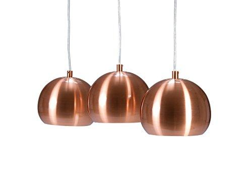 Invicta Interior 22975 Hängeleuchte Copper Ball 3er, höhenverstellbar