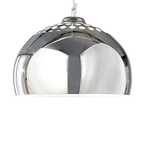 Invicta Interior Chrome Ball Designer Hängeleuchte chrom 30 cm
