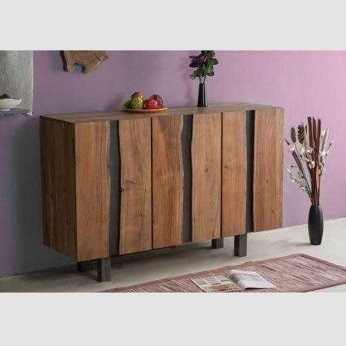 Jalna Sideboard 145x45 cm Wohnzimmerschrank Konsole Anrichte Massivholz Schrank Akazienholz
