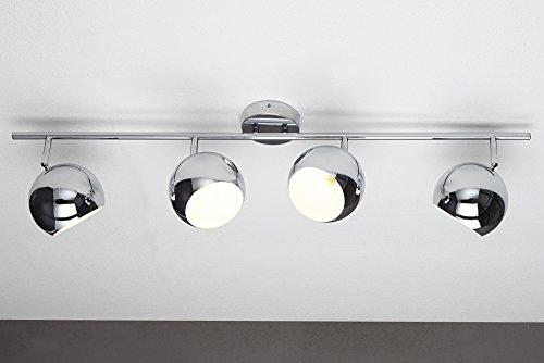 Klassische Design Deckenleuchte BUBBLE Chrom Pendelleuchte 105 cm