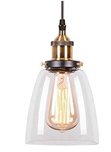Maxmer Hängelampe Vintage Pendelleuchte Glas Industrie Hängeleuchte Retro 1*E27 für Wohnzimmer Schlafzimmer Essizimmer Cafe Restaurant usw.  (S4)