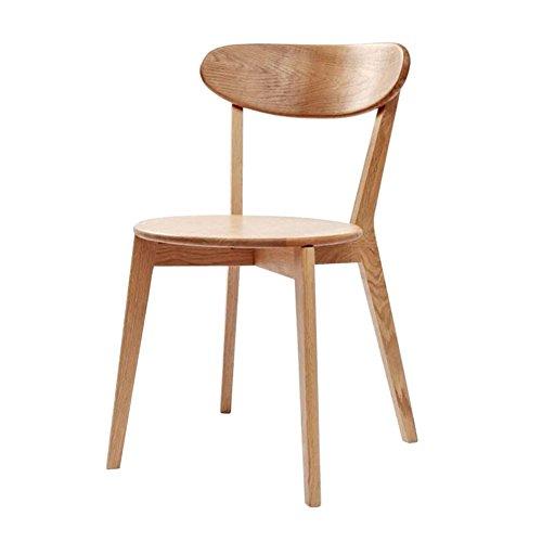 Mena Uk Pure Wood Chair, 70er Jahre, Eiche Größe 50X45X80cm, BackChair Kreuz Stuhl Freizeit Stuhl Esszimmerstuhl (Farbe : Primär, größe : H80cm)