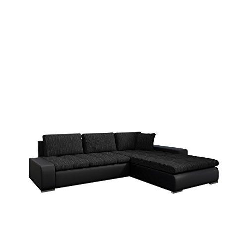 Mirjan24  Eckcouch Ecksofa - Orkan! Elegante Sofa mit Schlaffunktion und Bettfunktion, Bettkasten Couch L-Sofa Große Farbauswahl, Qualität (Soft 011 + Lawa 06)