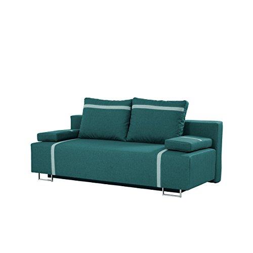mirjan24 schlafsofa las vegas mit bettkasten 2 sitzer sofa couch mit schlaffunktion bettsofa. Black Bedroom Furniture Sets. Home Design Ideas