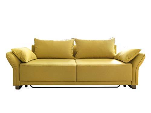 mirjan24 schlafsofa loretto mit bettkasten couch mit schlaffunktion 3 sitzer sofa farbauswahl. Black Bedroom Furniture Sets. Home Design Ideas