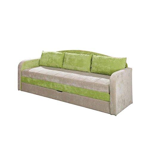 Mirjan24  Schlafsofa Tenus, Sofa Couch mit Bettkasten und Schlaffunktion, Bettsofa Schlafcouch, Gästebett Schlafzimmer (Ibiza 03 + Ibiza 10)