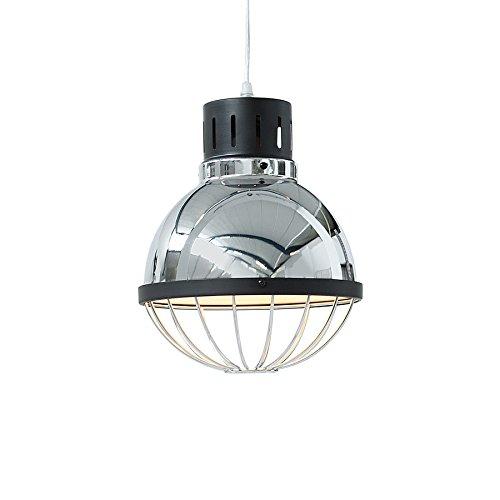 Moderne Industrie Hängeleuchte FACTORY silber 25cm Deckenlampe E27 Industrielampe Pendelleuchte Beleuchtung Deckenleuchte