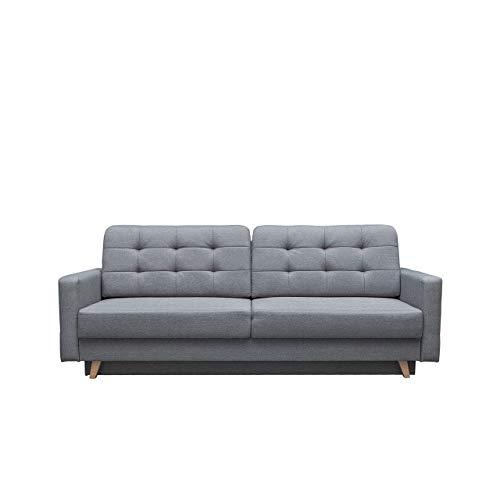 Modernes Sofa Vegas mit Schlaffunktion und Bettkasten, Farbauswahl, Design Couch, Lounge Schlafsofa, Polstersofa, Polstergarnitur, Polstercouch (Sawana 21)