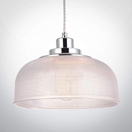 N3Lighting LED Pendelleuchte Hängeleuchte Glas Modern Design Φ 27cm für E27 Leuchtmittel, für Wohnzimmer Esszimmer Restaurant Keller Untergeschoss usw, Die Höhe ist verstellbar