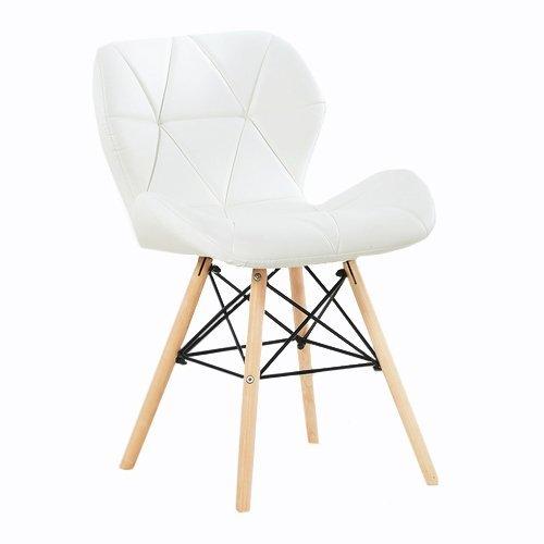 P & N Homewares Cecilia Eiffel millmead Inspiriert Stuhl aus Kunststoff Retro Weiß Schwarz Grau Rot Esszimmerstuhl Büro Stuhl Lounge weiß