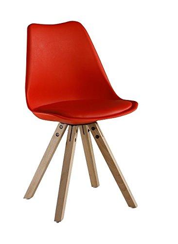 P & N Homewares Sofia Eiffelturm Inspiriert Stuhl aus Kunststoff Retro Weiß Schwarz Grau Rot Gelb Pink Grün Blau Retro Rot