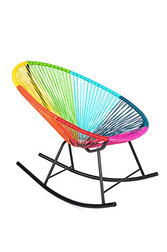 Retro Acapulco Lounge Relax Schaukelstuhl Rocking Chair Indoor Outdoor Bunt