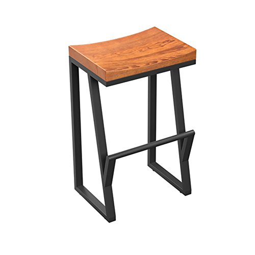 YILIAN dengzi Retro Bar Stuhl Bar Stuhl Massivholz Kreative Hochstuhl Freizeit Bar Stuhl Kaffeestuhl Stool (größe : 70cm high)