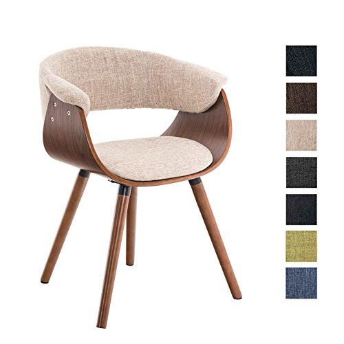 CLP Esszimmerstuhl PIRMA mit Stoffbezug I Konferenzstuhl mit Robustem Holzgestell I In Verschiedenen Farben erhältlich
