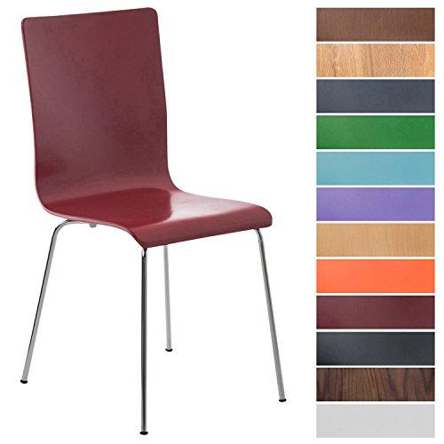 CLP Wartezimmerstuhl Pepe mit ergonomisch Geformten Holzsitz und Metallgestell I Konferenzstuhl I In Verschiedenen Farben erhältlich