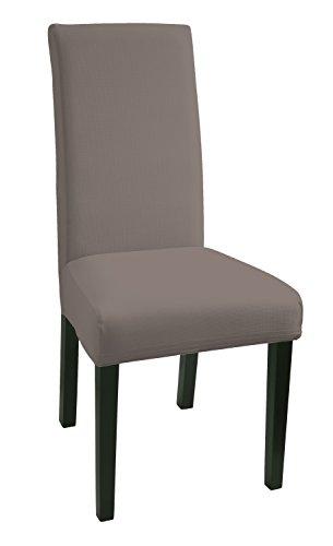 SCHEFFLER-HOME Mia Stuhlhussen 2 Stück, Stretch-Hussen Stuhl-Bezug bi-elastische Schutz-Husse, Dekor moderne Spann-Abdeckung mit Gummiband