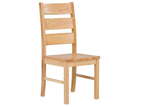 massivum Stuhl Natura 44x99x51 cm Rubberwood natur lackiert