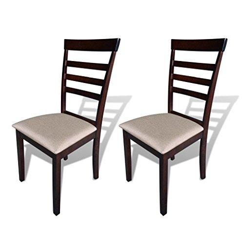 vidaXL Esszimmerstuhl Set Holz Stühle Küchenstuhl Holzstuhl Stuhl Lehnstuhl Esszimmer